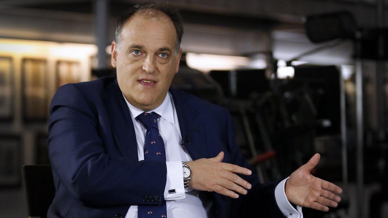 Tebas: «Cambiaría la ley para poder suspender la final de Copa si hay pitidos».Copa