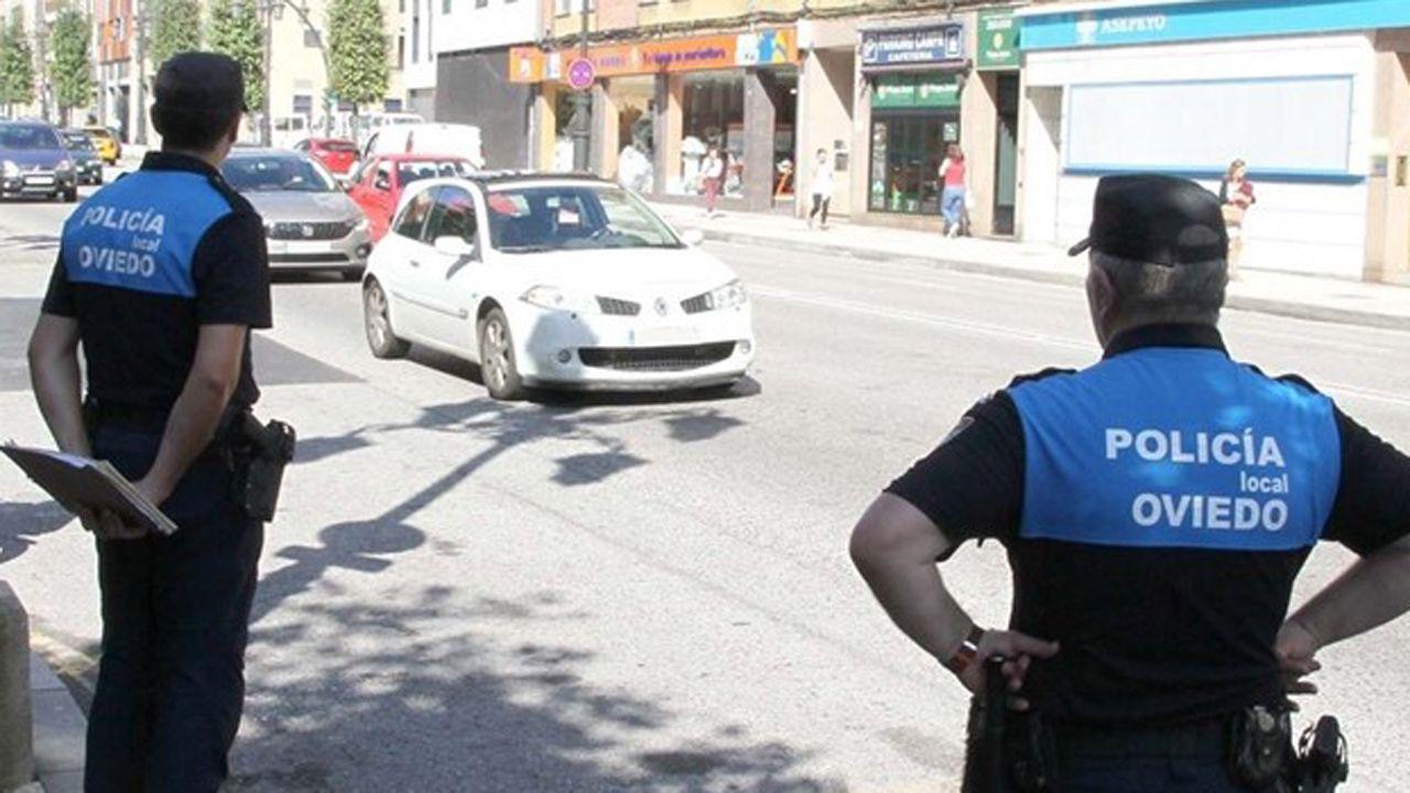 San Pepe cambia de ubicación.Policía local de Oviedo