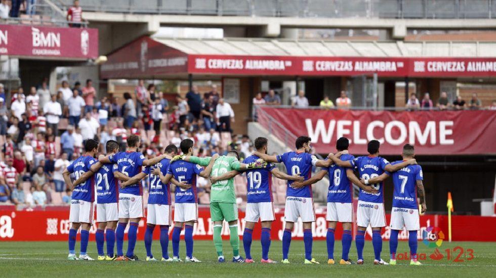 Alineación del Oviedo ante el Granada