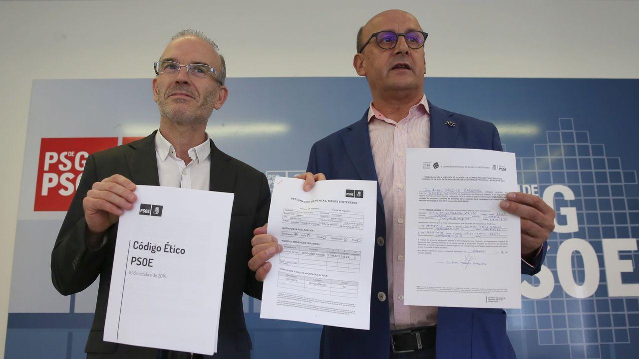Elena de Prada y Vázquez Barquero presentan avales para las primarias del PSOE