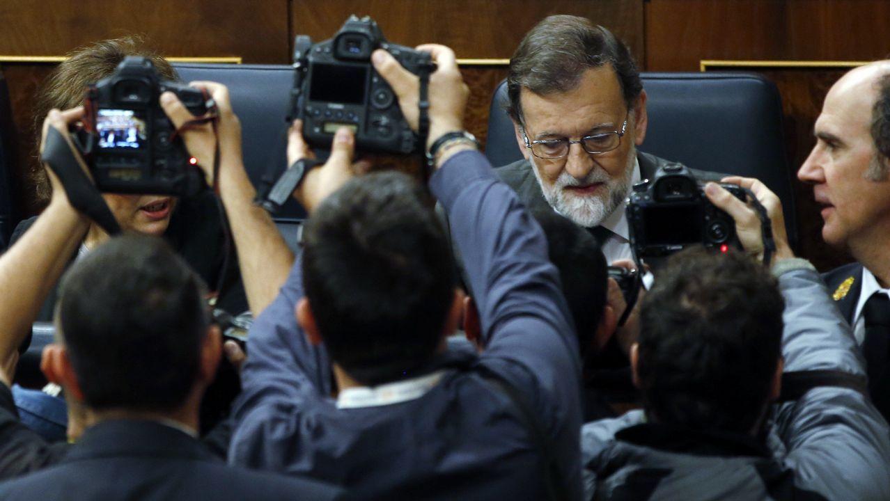 Pedro Sánchez, durante su intervención en el hemiciclo de esta mañana