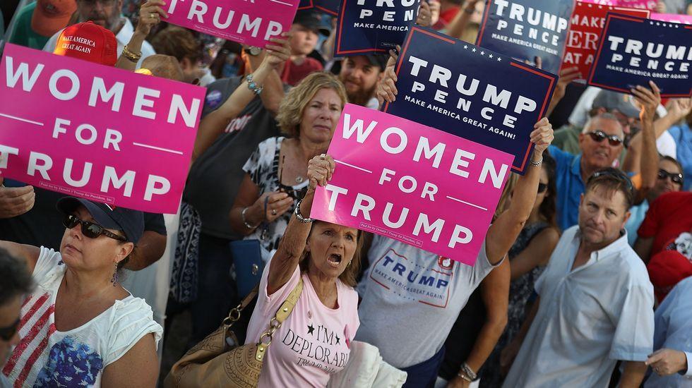 José Andrés, en un mitin de Hillary Clinton en Florida