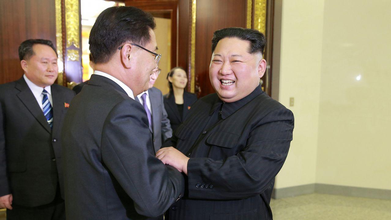 .Kim Jong-un recibe a una delegación de Corea del Sur