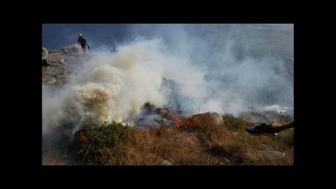 Último incendio registrado en Fisterra