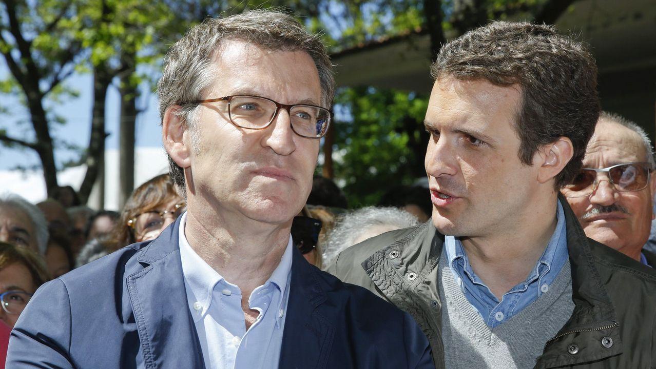 oleiros gelo.Feijoo saludó a Zapatero en el Hostal dos Reis Católicos