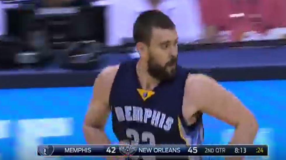 Los 38 puntos de Marc Gasol ante los Pelicans