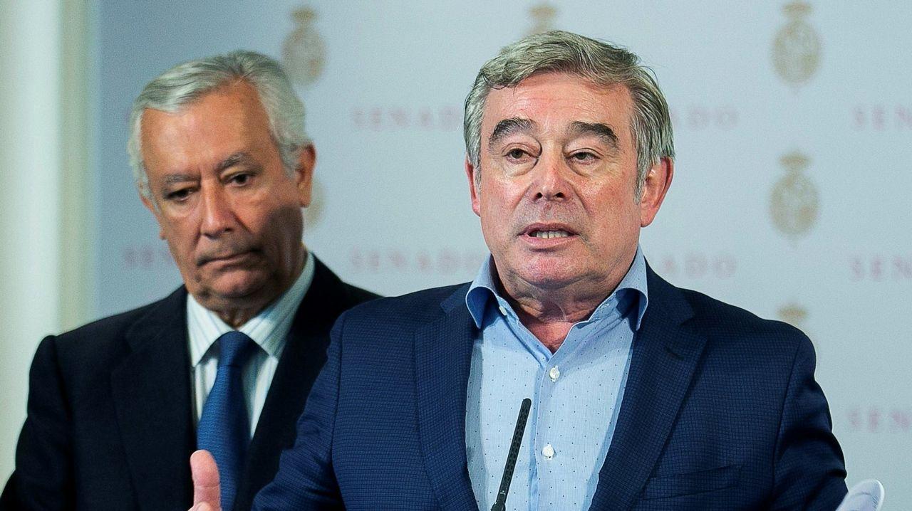 .José Manuel Barreiro, junto a Javier Arenas, en una imagen de archivo
