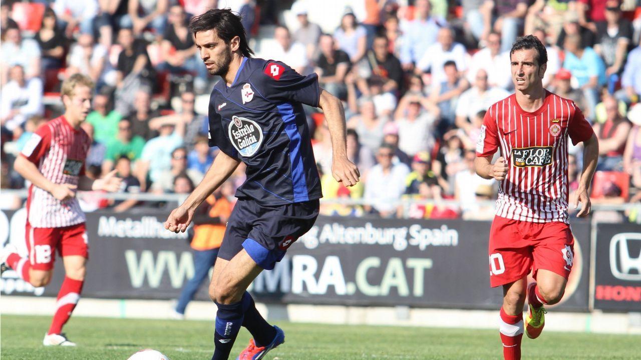 Las mejores imágenes del Girona - Dépor.El Deportivo se ejercitó esta mañana en césped artificial