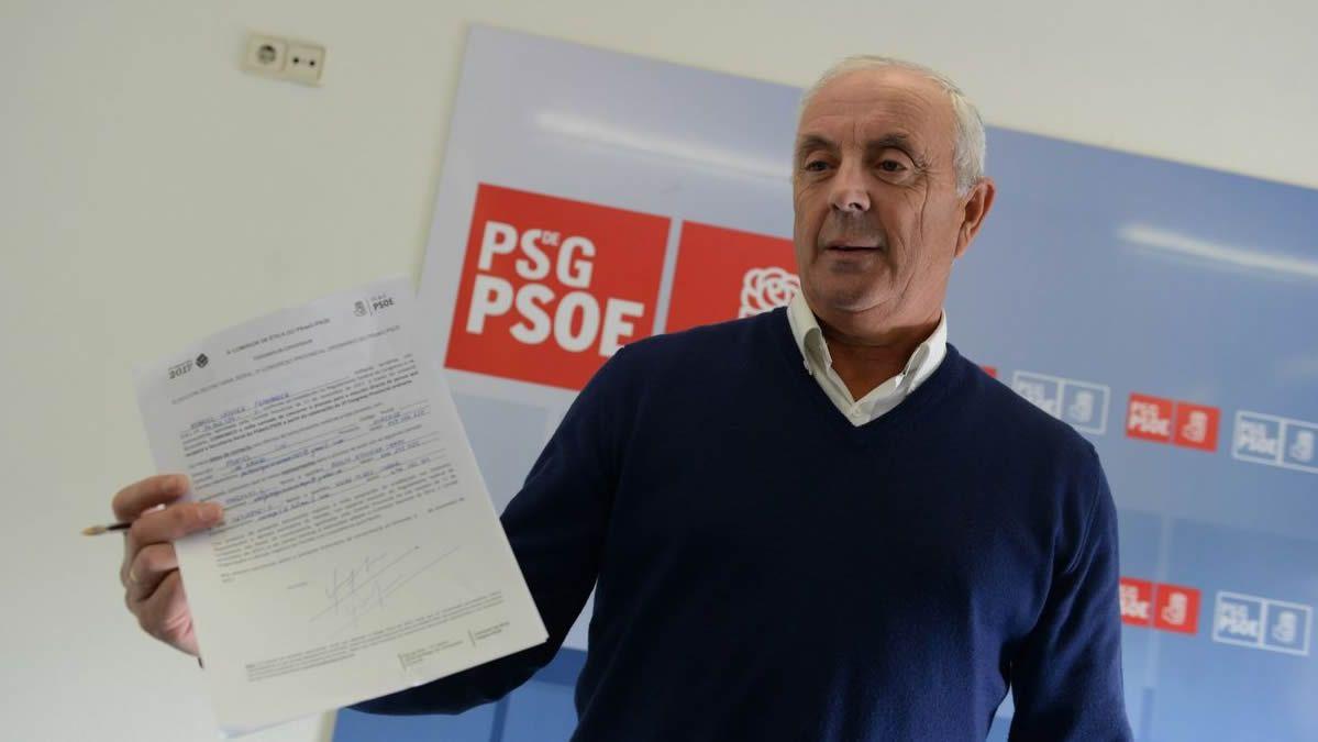 Imagen de 2017 presentando su candidatura a la secretaría provincial del PSOE