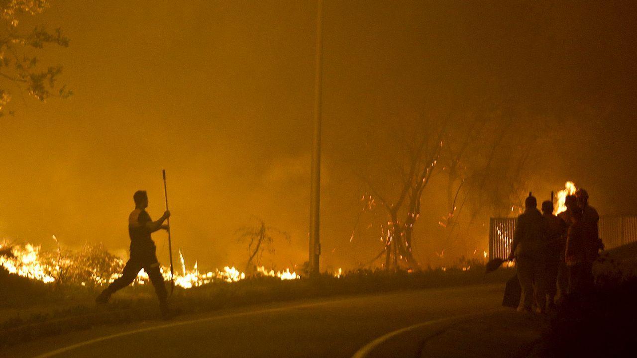Así quedó la avenida de Europa de Vigo tras la oleada de fuegos