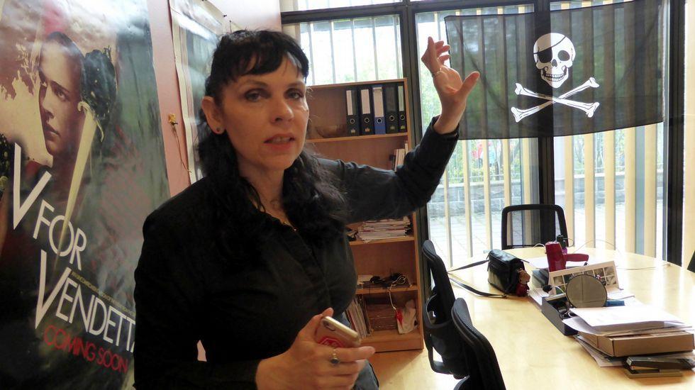 .La líder del Partido Pirata, Brigitta Jonsdottir.