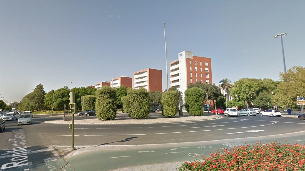 Atasco en la AP-9, en Santiago, tras una colisión entre dos vehículos