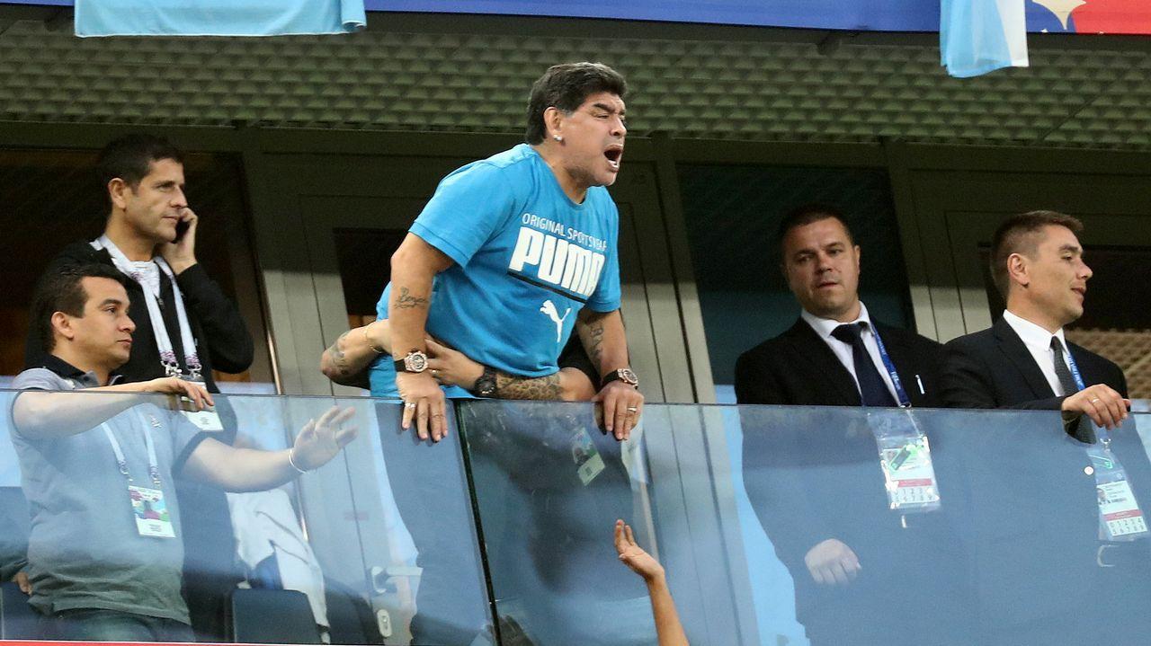 El nuevo show de Maradona.