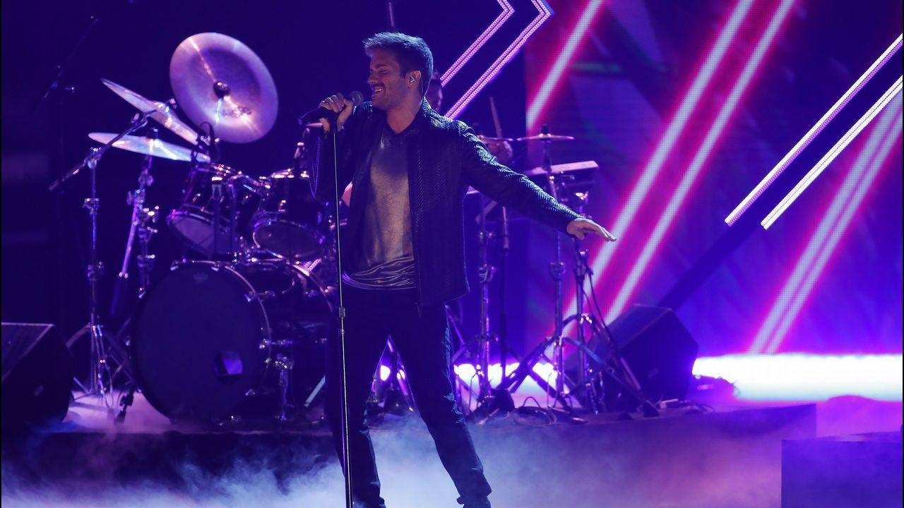 Pablo Alborán, durante su actuación en la gala