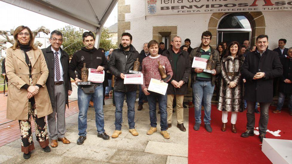 Lo vinos premiados fueron: Don Bernardino, Cividade y Viña Peón en tintos y Guímaro en blancos