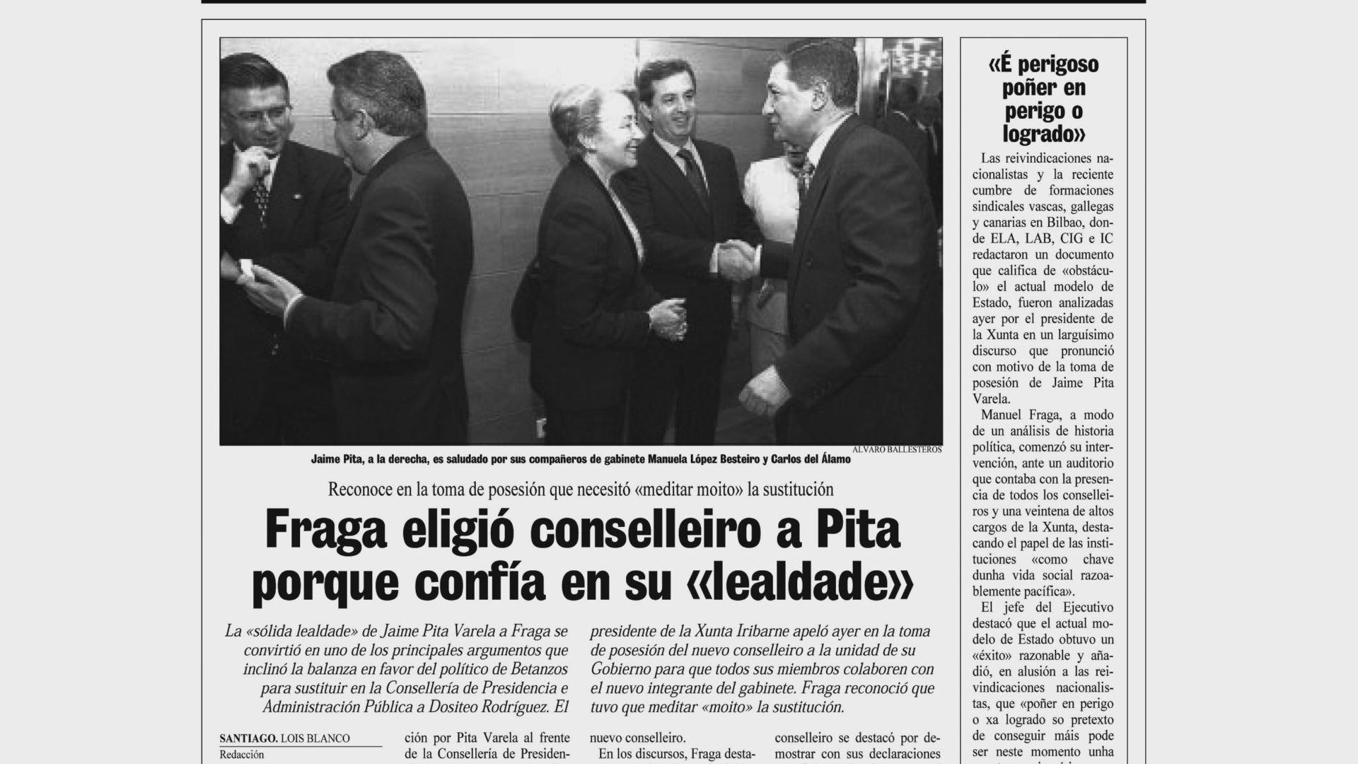 Página de La Voz de Galicia del 21 de febrero de 1999