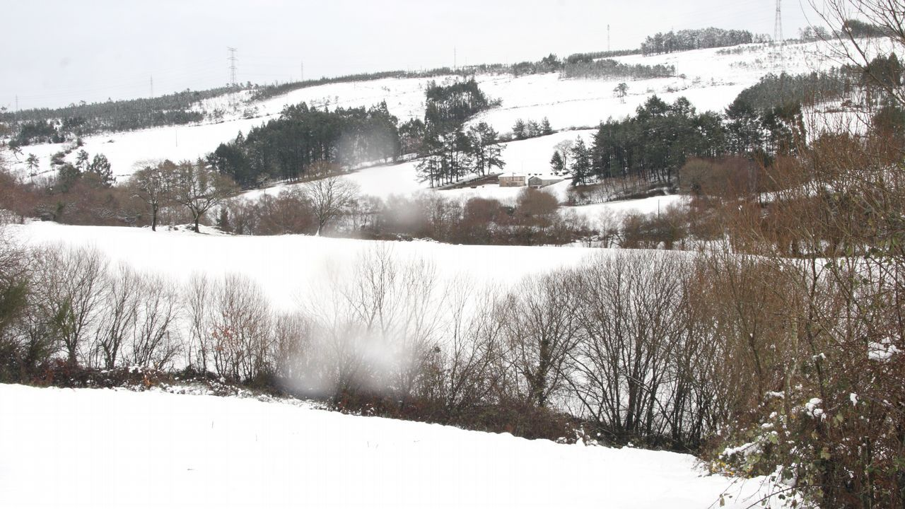 Lugares incomunicados por la nieve en Cambas