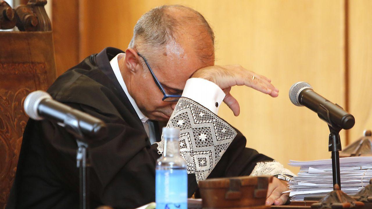 El fiscal Alejandro Pazos, durante la sesión en la que se leyó el veredicto