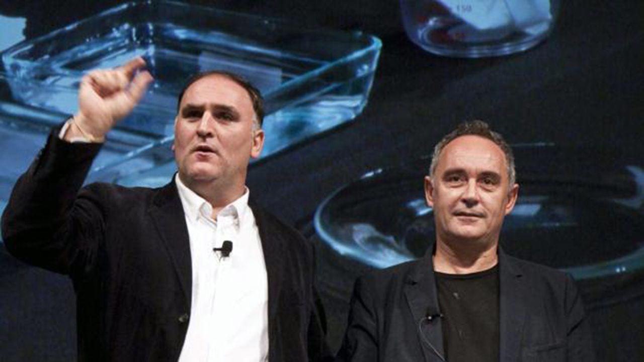 .Los chefs José Andrés y Ferran Adriá