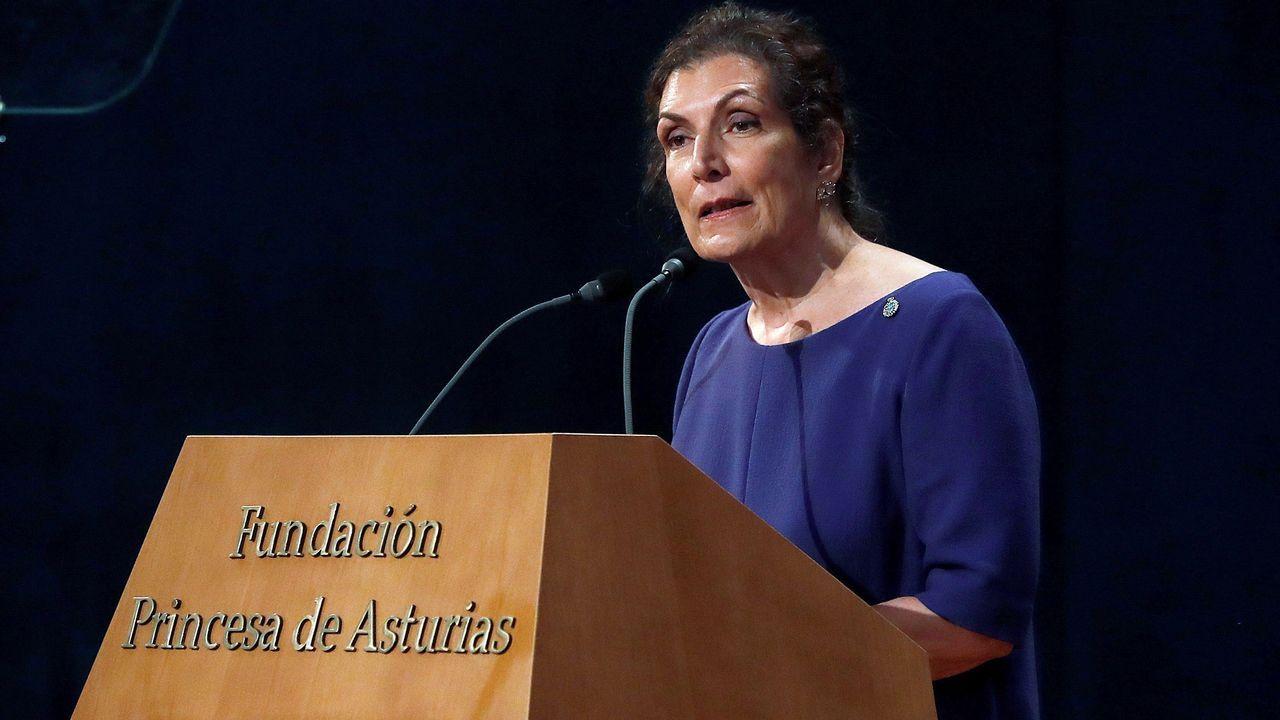 Las mejores imágenes de la ceremonia.La periodista mexicana Alma Guillermoprieto, Premio Princesa de Asturias de Comunicación y Humanidades