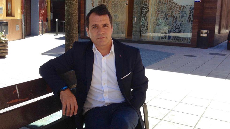 David Moreno, alcalde de Aller.David Moreno, alcalde de Aller