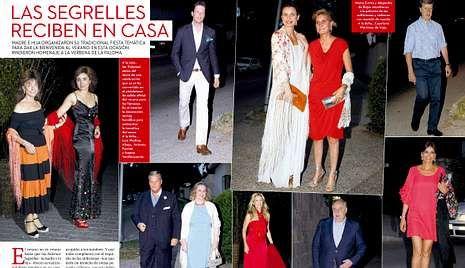 Los jugadores del Barça acompañaron a Xavi el día de su boda.<span lang= es-es >Primera fiesta del verano</span>. Arriba, imagen de los invitados de la fiesta de las Segrelles. A la derecha, portada de la revista.