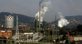 Una de las plantas asturianas de la siderúrgica Arcelor