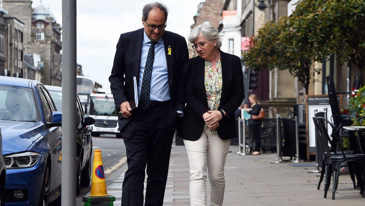 .Torra visitó este miércoles en Edimburgo a la exconsejera Ponsatí, para quien el independentismo «iba de farol»