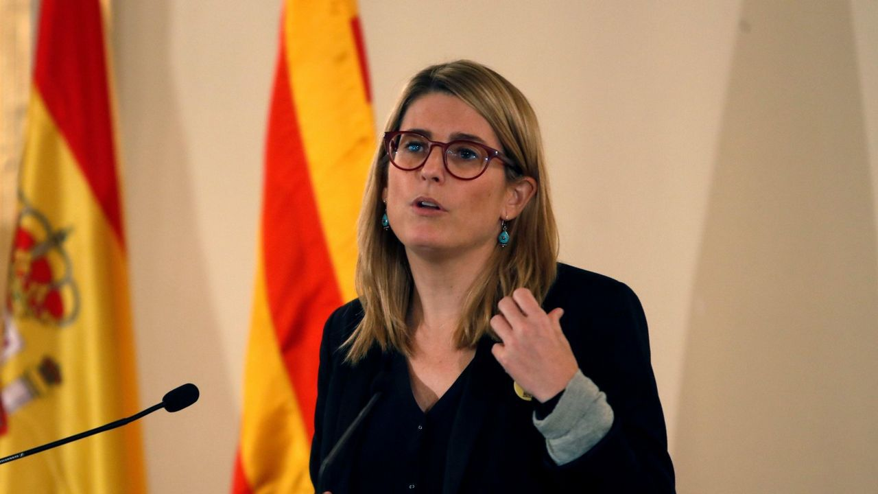 Presentación de los candidatos a alcaldes del PP en las 7 ciudades.La consellera de Presidencia de la Generalitat, Elsa Artadi