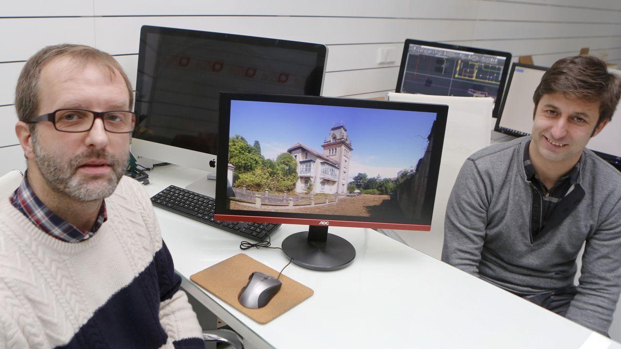 Moncho Rey y Pablo Ríos, del estudio as built, se han hecho cargo del proyecto de rehabilitación del chalé Juan Sixto, más conocido como el chalé de Canido