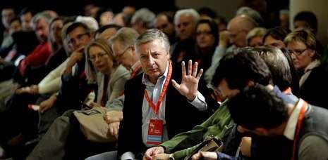 José Blanco en el Camino de Santiago.El exministro de Fomento, José Blanco, en un comité nacional del PSdeG celebrado en Santiago en noviembre del año pasado.