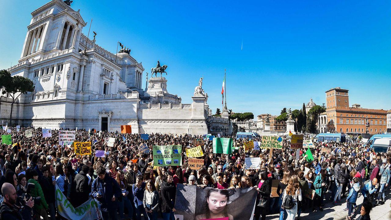 Protesta en Roma