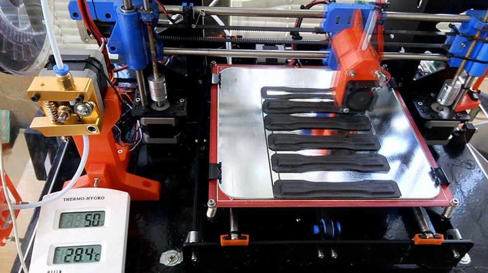 Fabricación de probetas con impresión 3D.Fabricación de probetas con impresión 3D