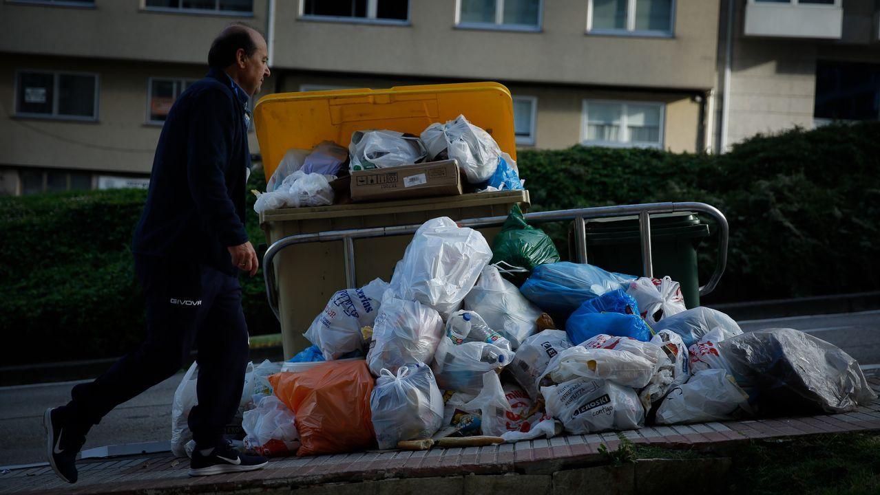 Basura en las calles de A Coruña