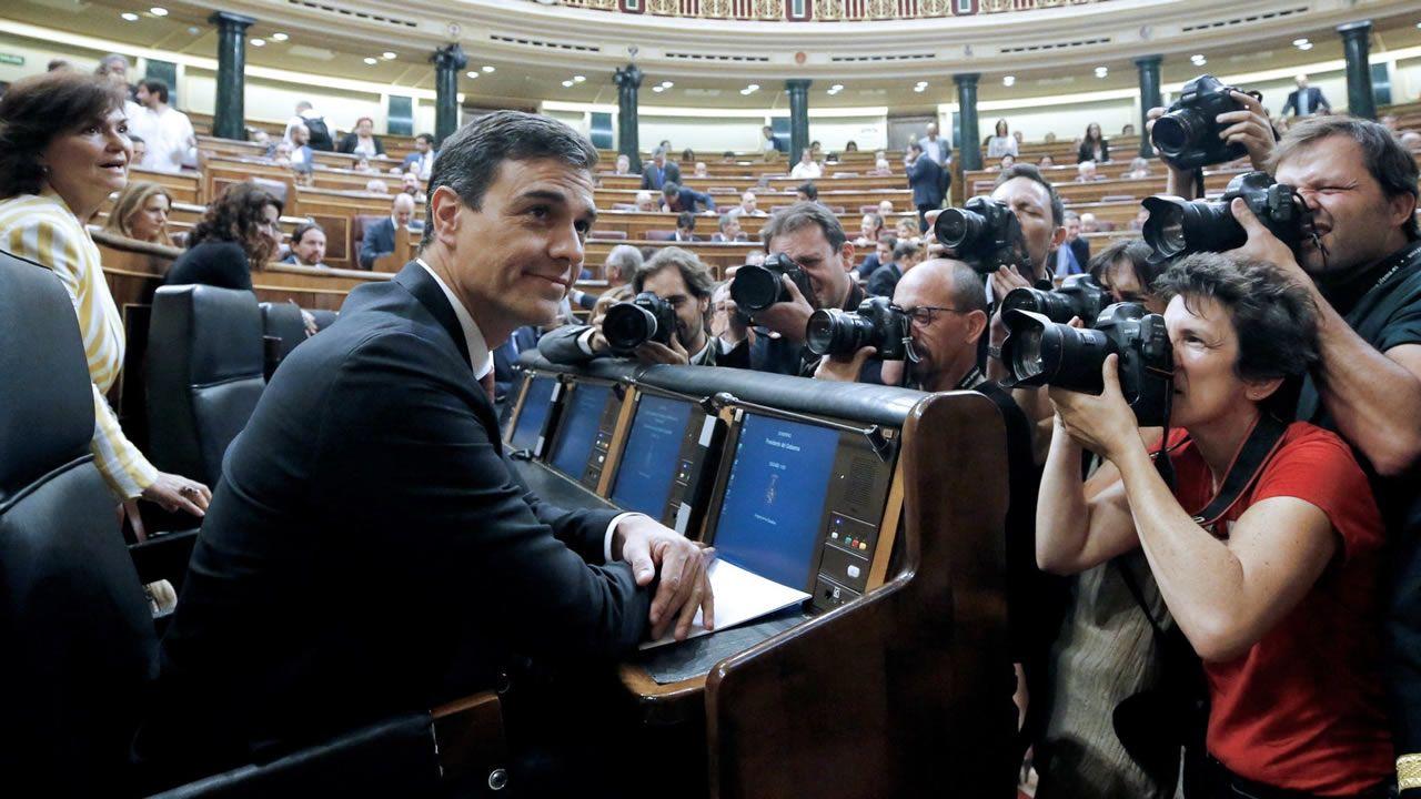 .Alberto Núñez Feijóo participó en Santiago en un acto de entrega de certificados de experiencia profesional
