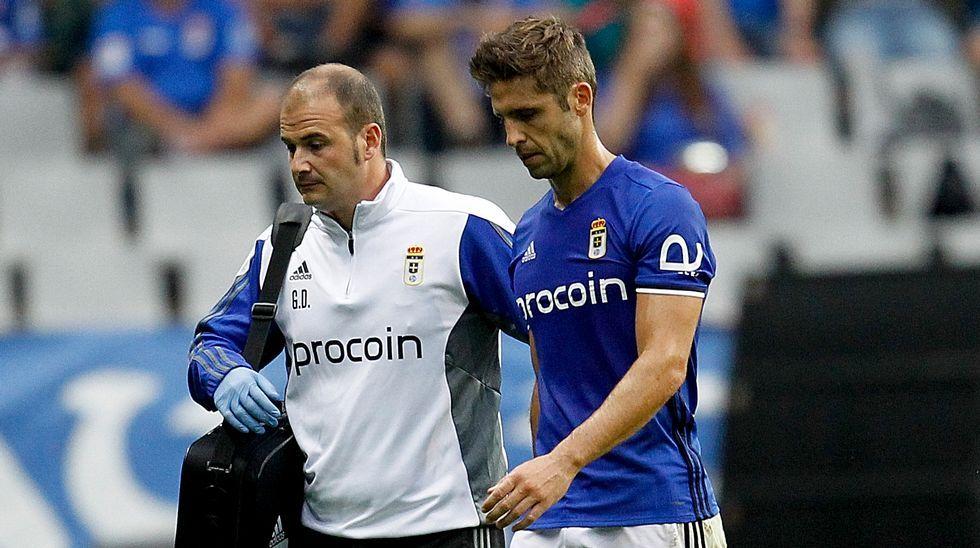 Verdés se retira lesionado del partido ante el Almería