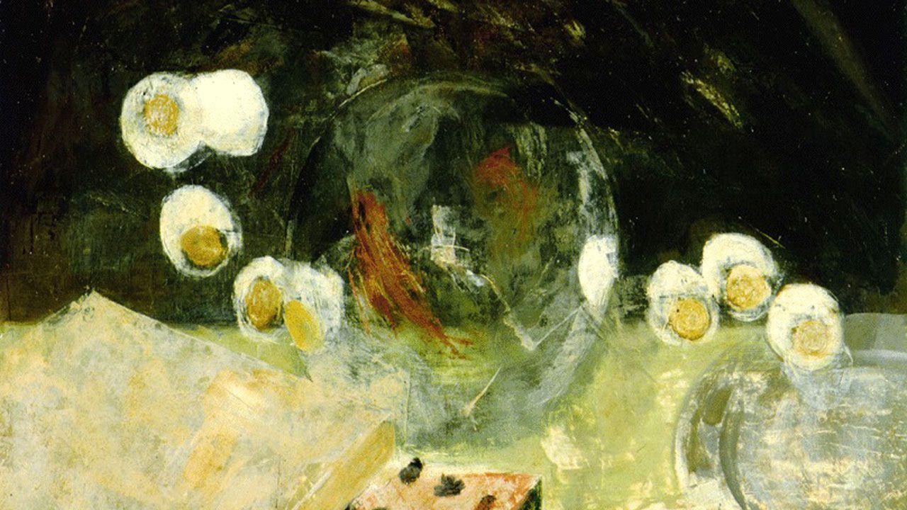 Pancho Cossío. Fragmento de «Mesa con sandía» (1960)