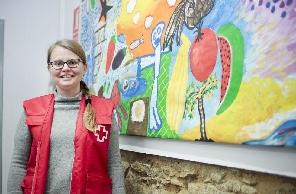 Rusia celebra el Día de la Victoria.Elena Sherevera, de 40 años, echó raíces en Vilagarcía, donde colabora con Cruz Roja.