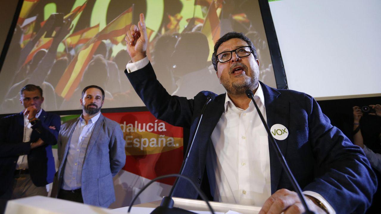 El PP y Ciudadanos presentan sus candidaturas mientras Susana Díaz pide frenar a la ultraderecha.Javier Fernández Lanero
