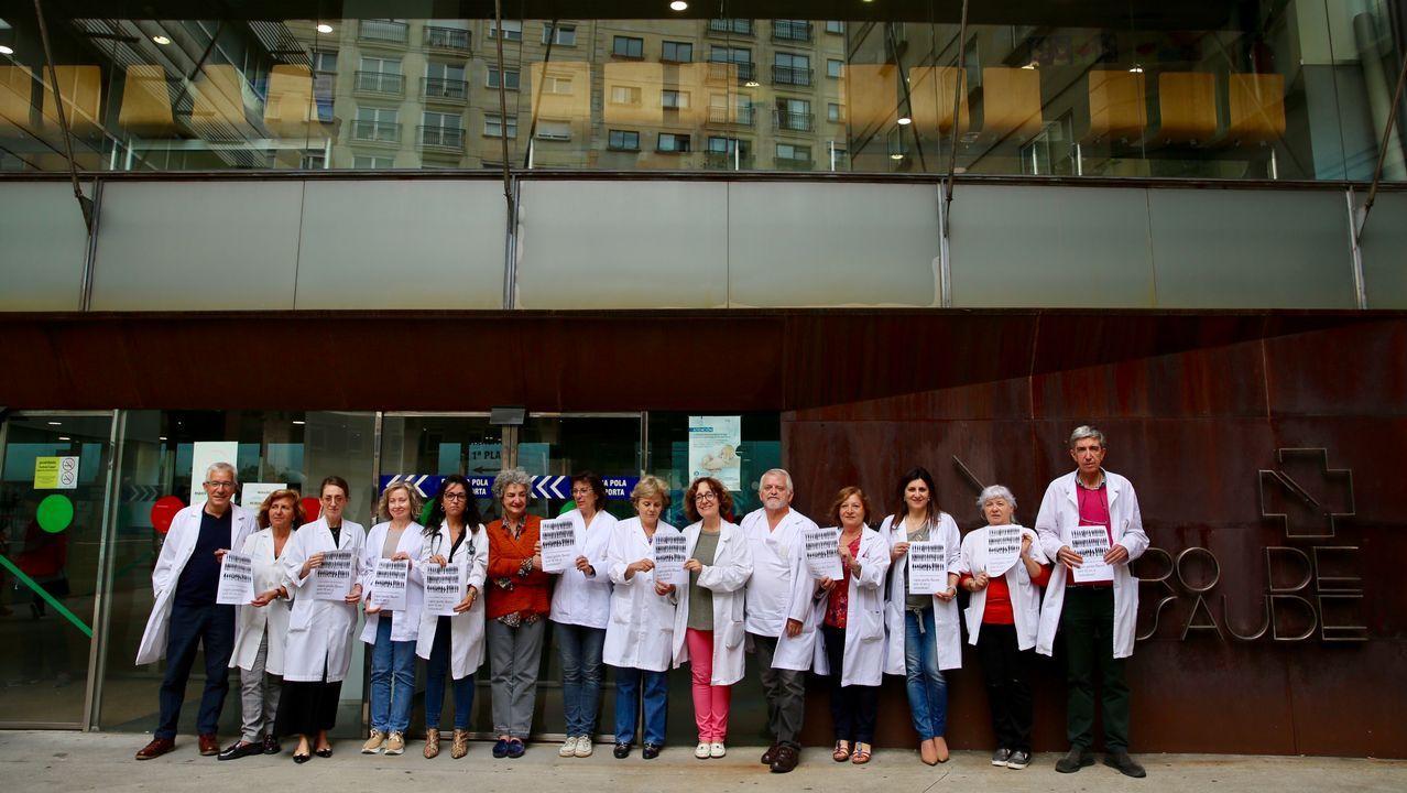 Pleno de la investidura en Vigo.El equipo de neurorradiología del Cunqueiro