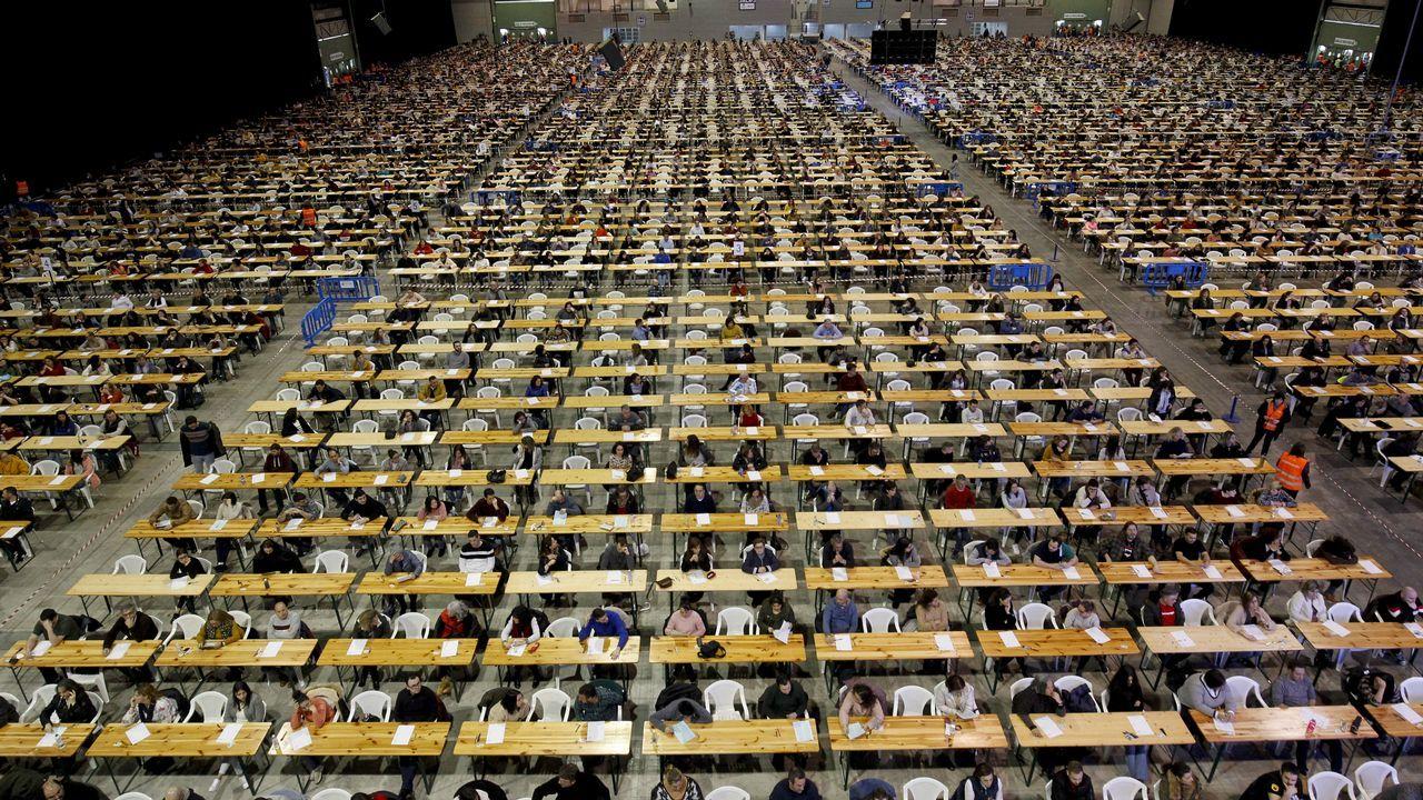 El recinto ferial de Silleda durante las oposiciones a celador del SERGAS celebradas el pasado domingo