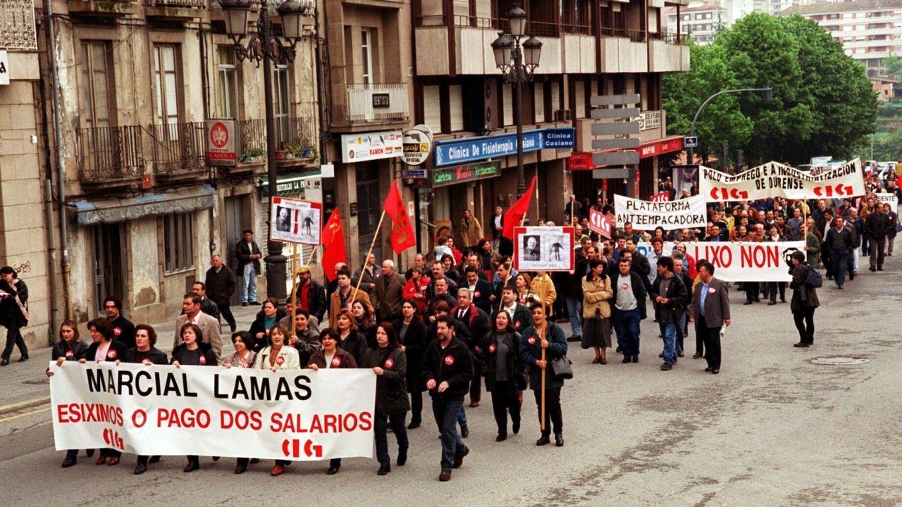 1 de maio en las calles de A Coruña.Manifestación del Primero de Mayo de 2017