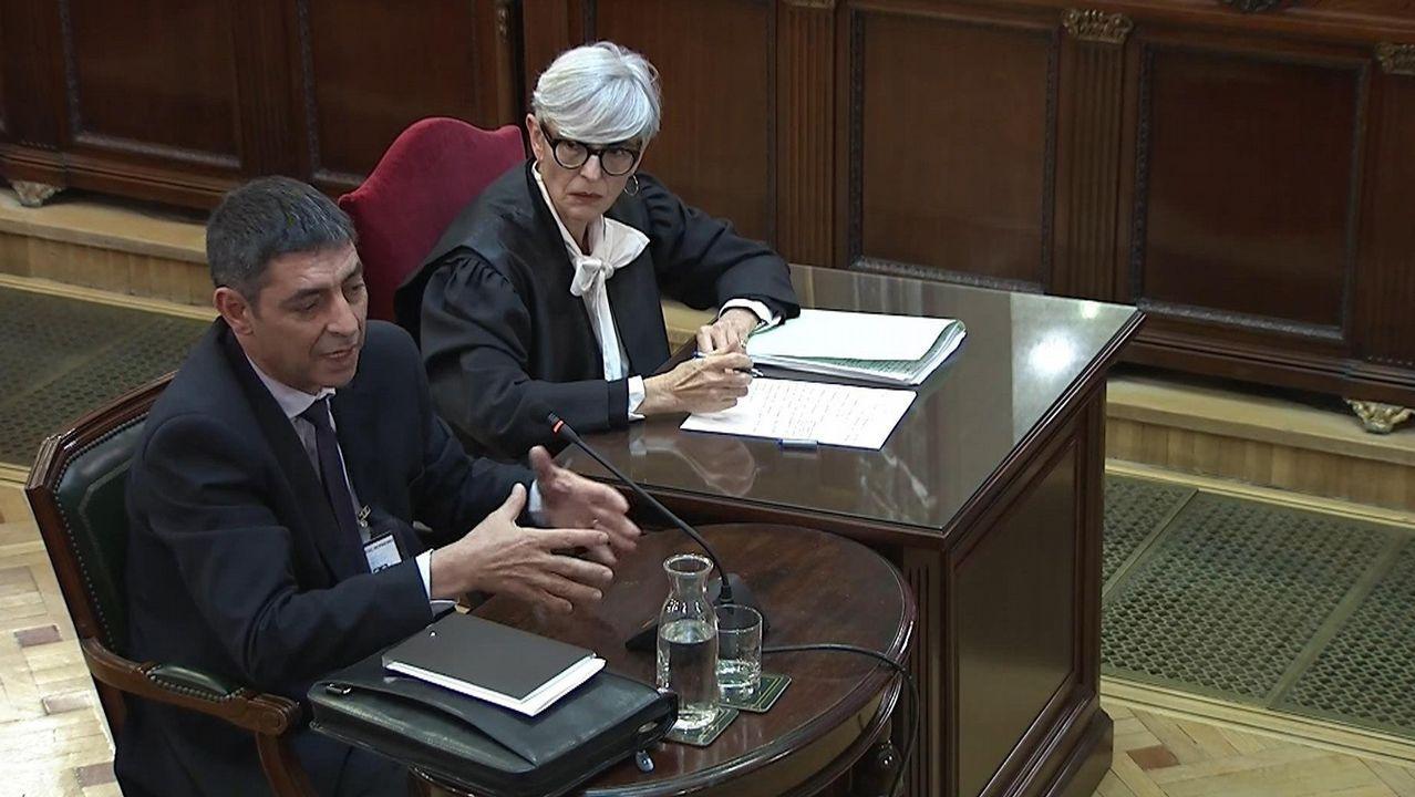 El exjefe de los Mossos, Josep Lluís Trapero, compareció como testigo en el juicio del 1-O, acompañado de su abogada, Olga Tubau