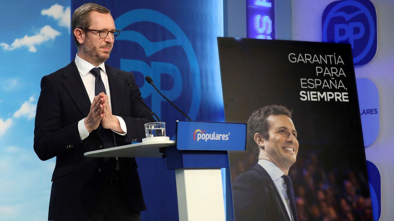 «Garantía para España, siempre». Javier Maroto presentó ayer el lema de la precampaña del PP, que los populares califican de innovadora y con la que quieren resaltar su experiencia de gobierno.