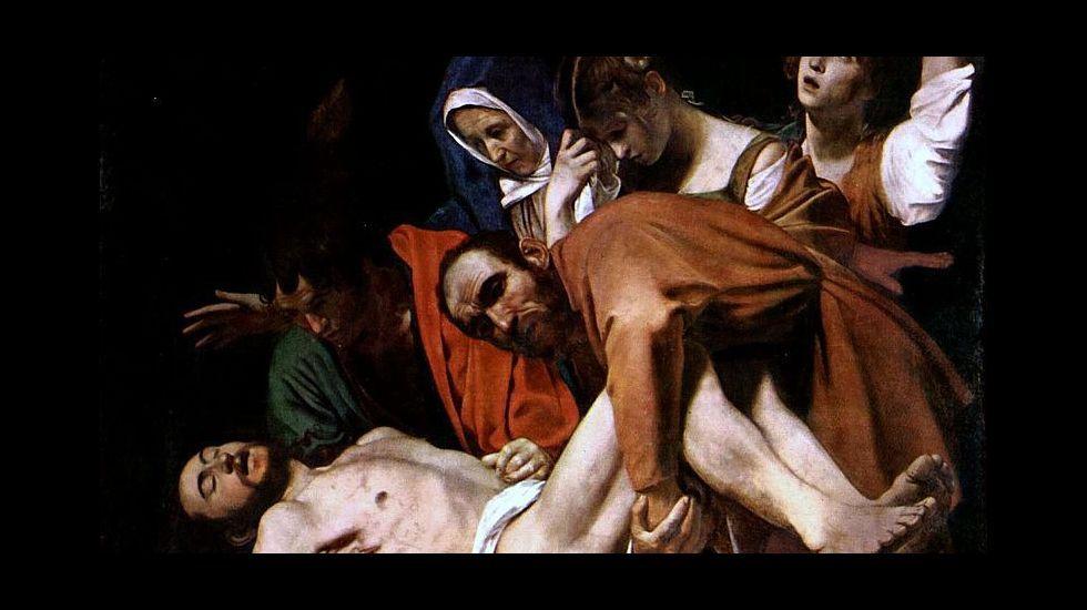 .«Santo entierro», de Caravaggio (1602-1604). Museos Vaticanos