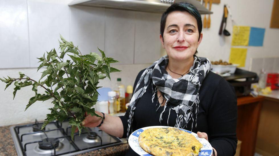 Una tabernera brava que cocina con ortigas.