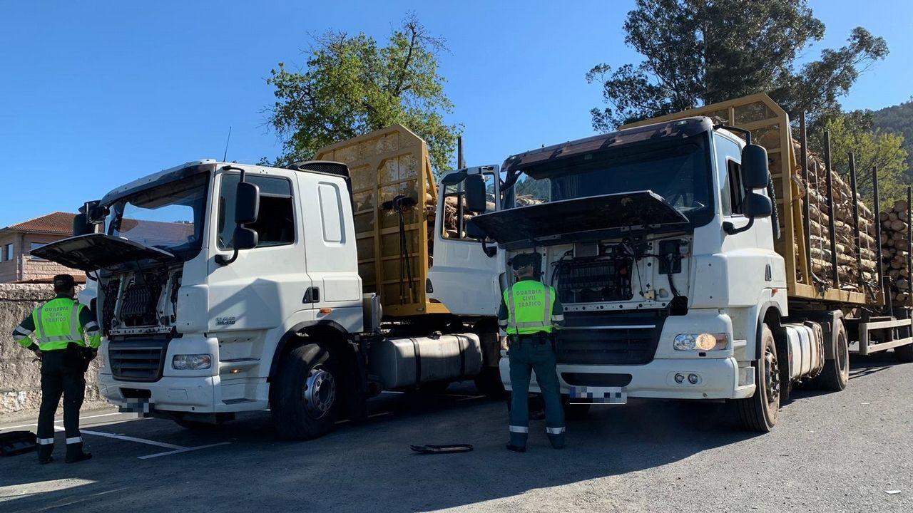 Castaño niega que pactase con el exdirector de la fundación su indemnización.La Guardia Civil registrando un camión en busca de manipulaciones en los sistemas de emisiones