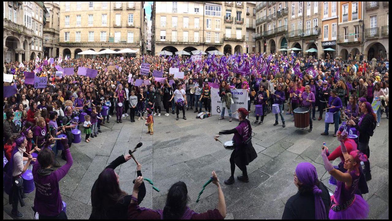 Concentración en la Praza Maior de Ourense