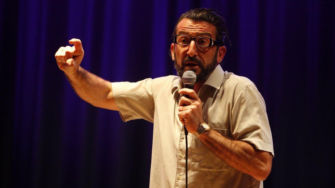 El actor y creador de la ficción Berto Romero durante la presentación de la serie  Mira lo que has hecho