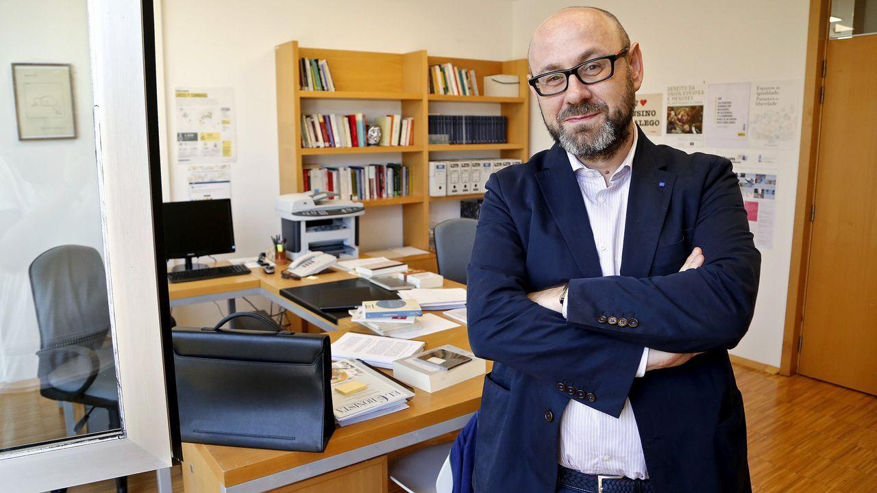 Xosé Manuel Pacho imparte Teoriá do Dereito en la Universidad de Vigo.
